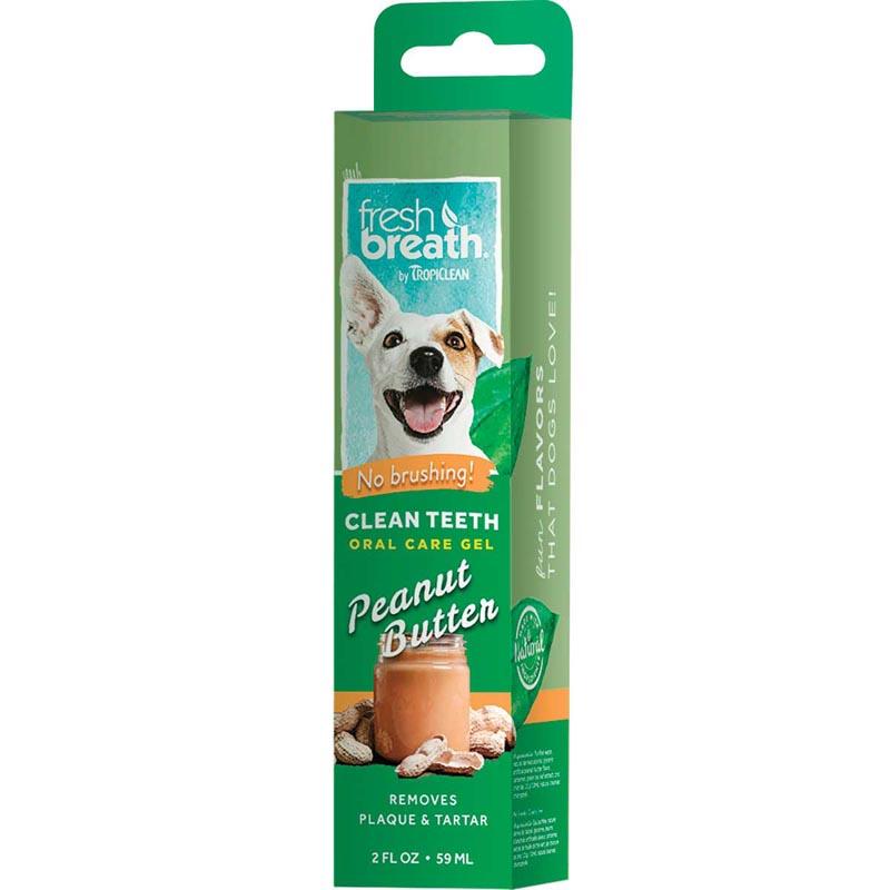 Tropiclean Fresh Breath Clean Teeth Gel for Dogs - Peanut Butter 2 oz