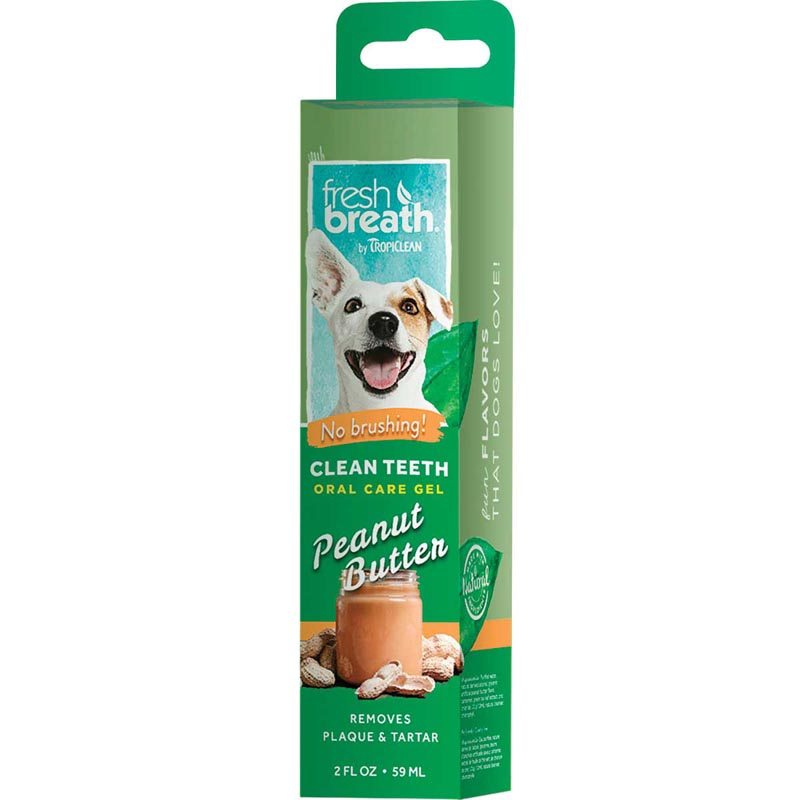 Tropiclean Fresh Breath Clean Teeth Gel for Dogs - Peanut Butter 2 oz