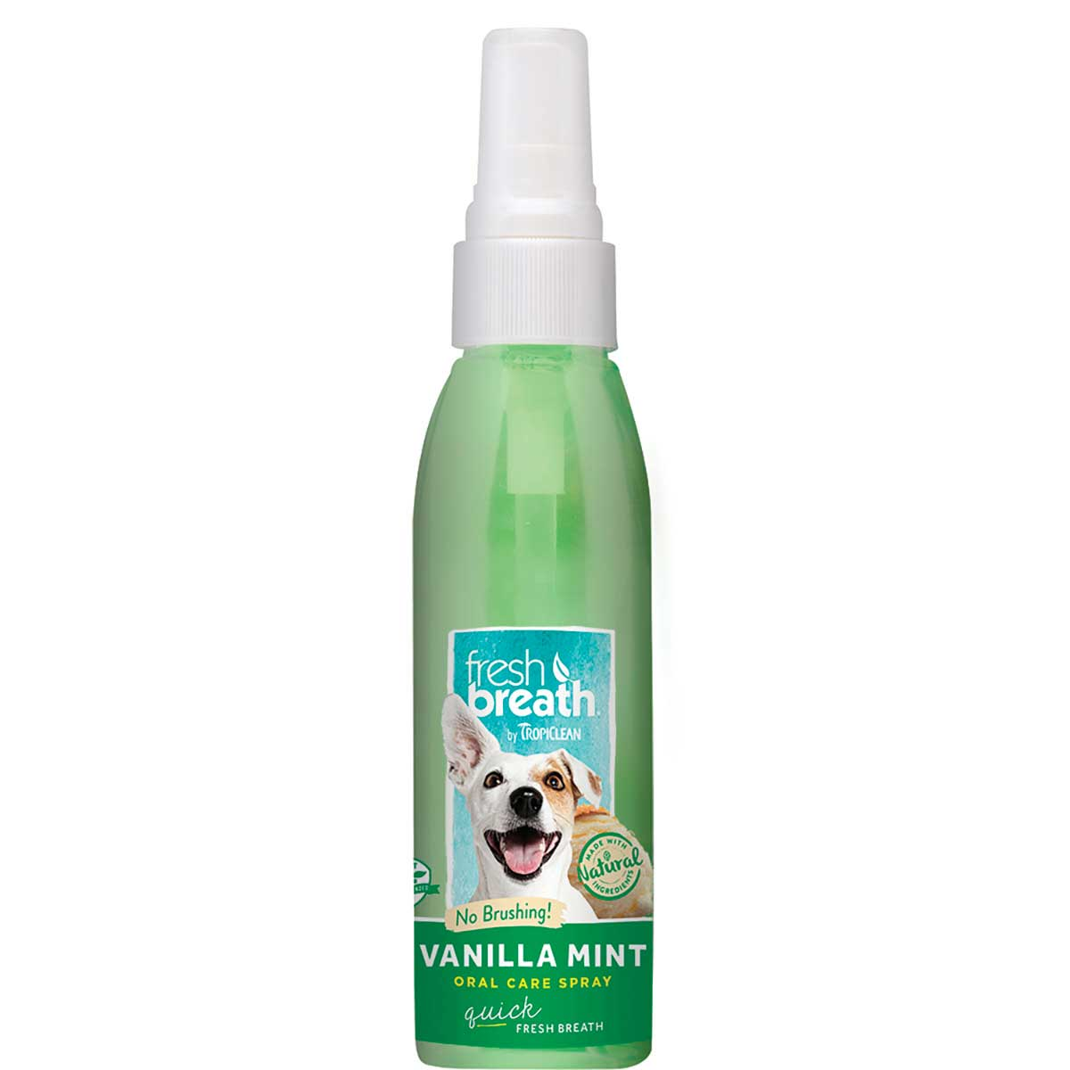 Tropiclean Fresh Breath Oral Care Spray for Dogs - Vanilla Mint 4 oz