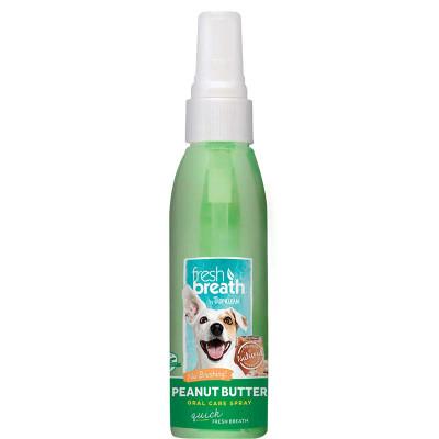 Tropiclean Fresh Breath Oral Care Spray for Dogs - Peanut Butter Flavor 4 oz