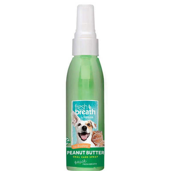 Tropiclean Fresh Breath Oral Care Spray for Dogs - Peanut Butter Flavor 4 oz