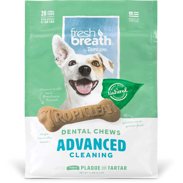 Small Tropiclean Advanced Cleaning Dental Chews at Ryan's Pet Supplies