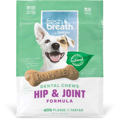 Regular Tropiclean Hip and Joint Dental Chews at Ryan's Pet Supplies
