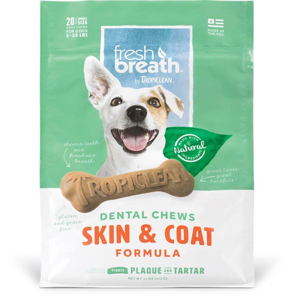 Small Tropiclean Skin and Coat Dental Chews at Ryan's Pet Supplies
