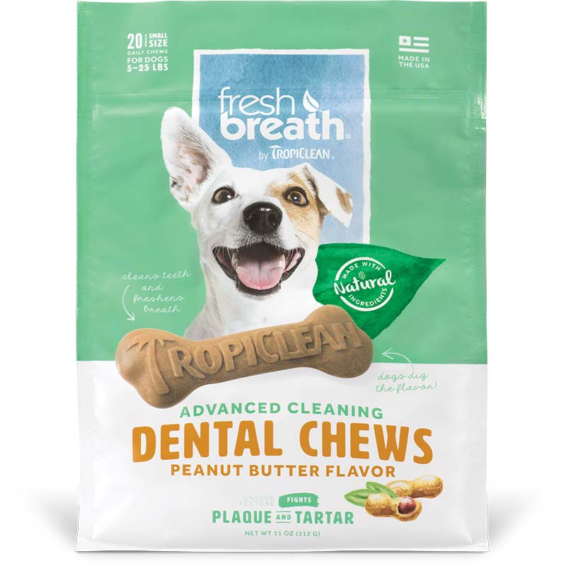 Small Tropiclean Peanut Butter Dental Chews at Ryan's Pet Supplies