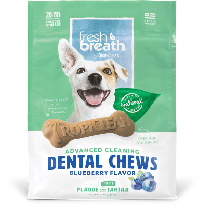Small Tropiclean Berry Dental Chews at Ryan's Pet Supplies