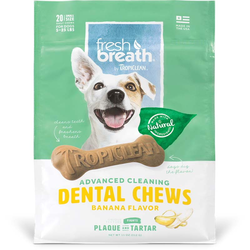 Small Tropiclean Banana Dental Chews at Ryan's Pet Supplies