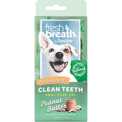 4 oz Fresh Breath by TropiClean Peanut Butter Gel