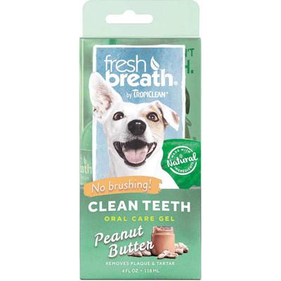 4 oz Fresh Breath by TropiClean Peanut Butter Gel