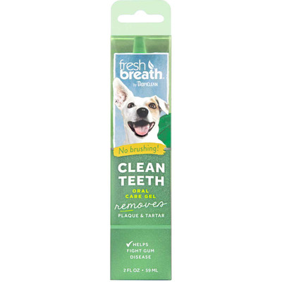 Tropiclean Fresh Breath Oral Care Clean Teeth Gel 4 oz at Ryan's Pet Supplies