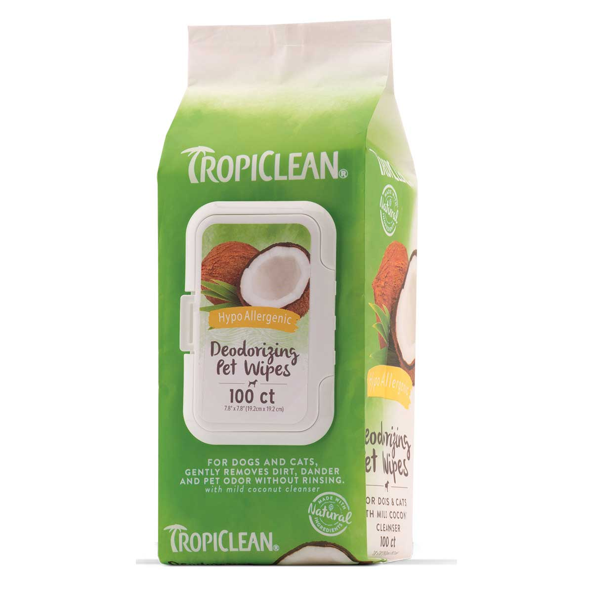 Tropiclean Deodorizing Pet Wipes Hypo-Allergenic 100 Count at Ryan's Pet Supplies