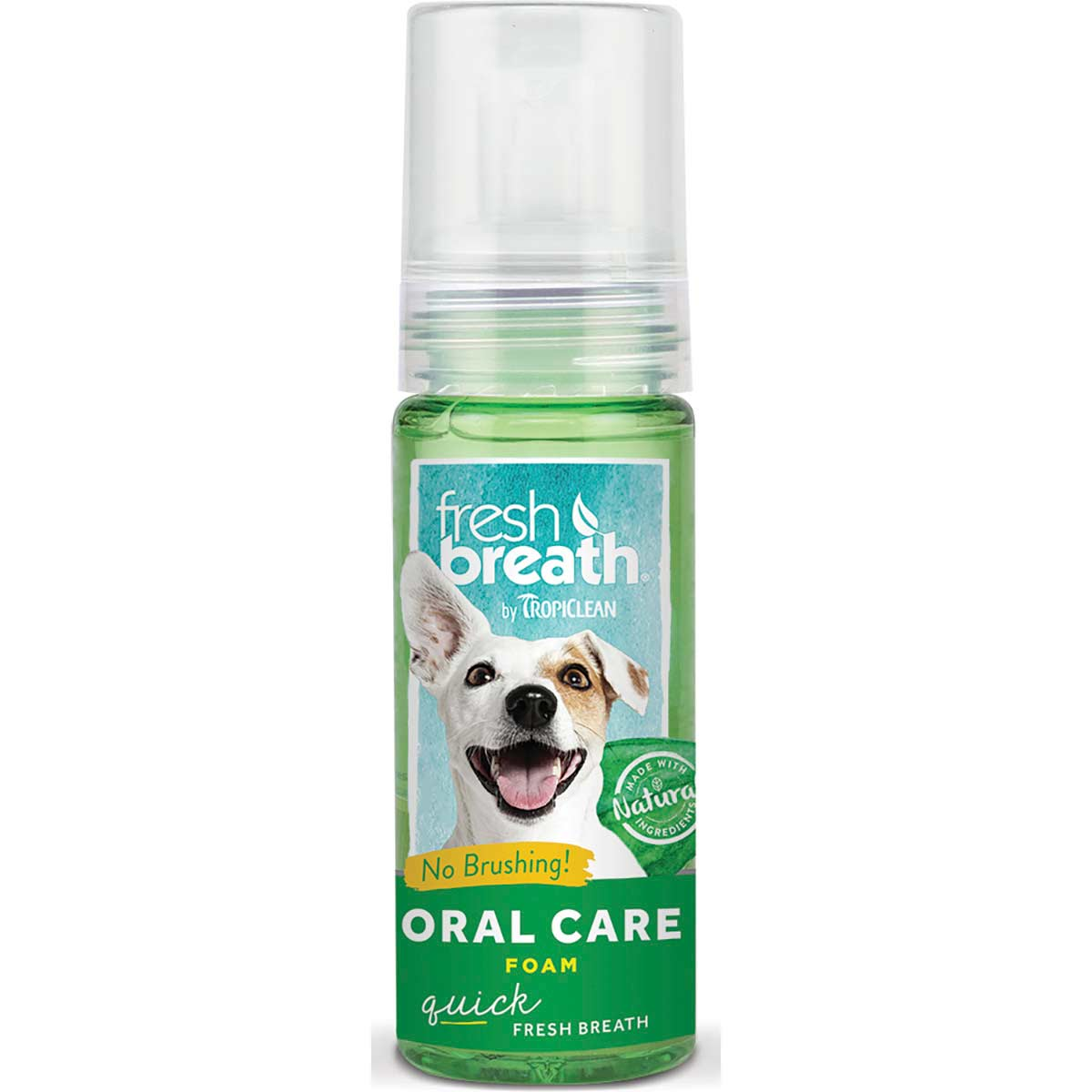 Tropiclean Fresh Breath Oral Care Fresh Mint Foam 4.5 oz at Ryan's Pet Supplies