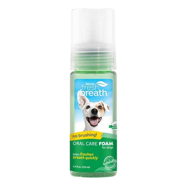 Tropiclean Fresh Breath Oral Care Fresh Mint Foam 4.5 oz at Ryan's Pet Supplies