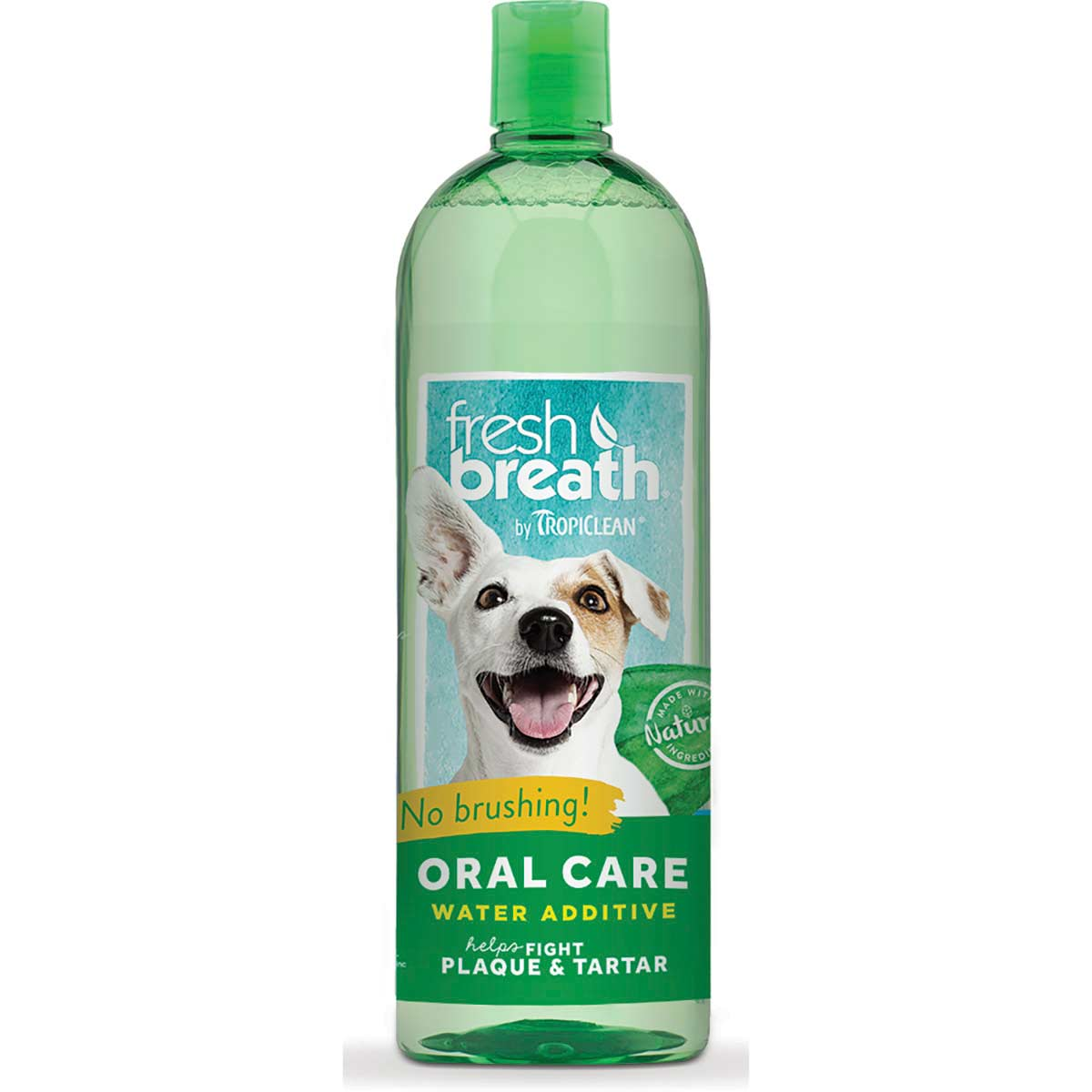 Tropiclean Fresh Breath Oral Care Water Additive for Dogs 33.8 oz