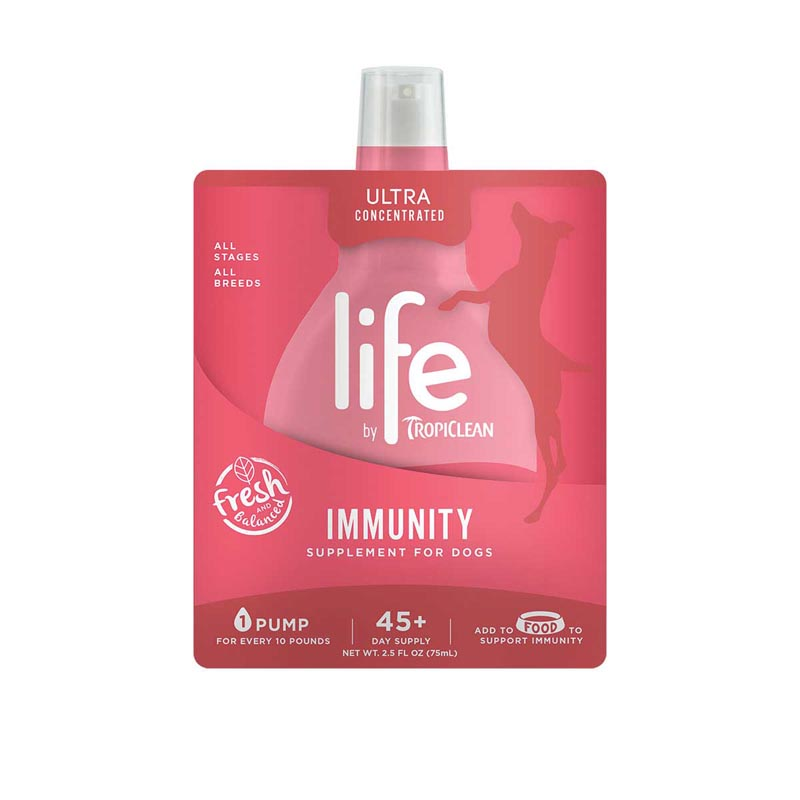 Tropiclean Life Immunity Supplement for Dogs - 2.5 oz 45+ Day Supply