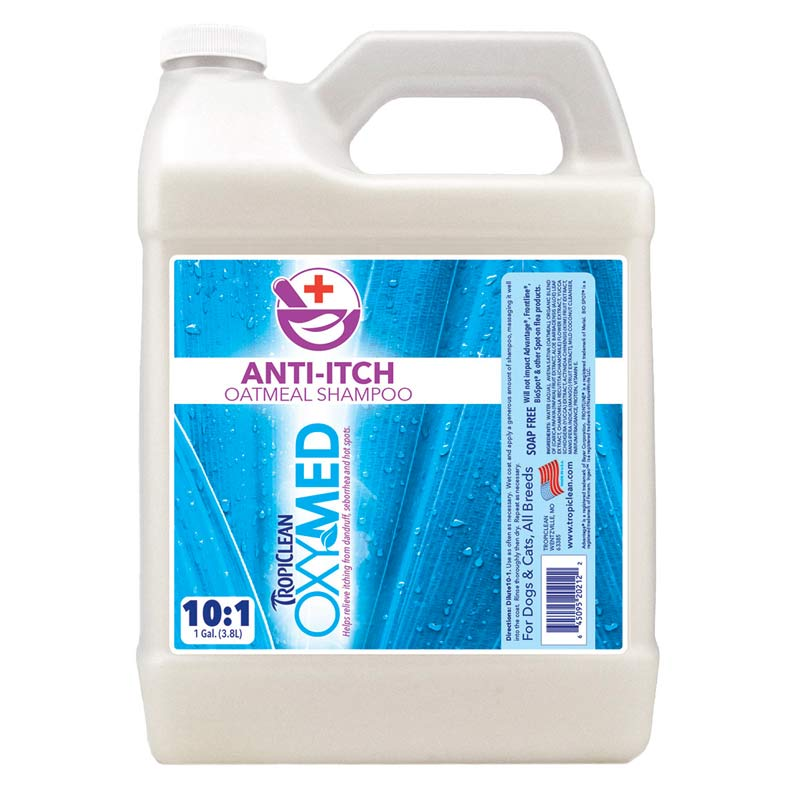 Tropiclean OxyMed Anti-Itch Oatmeal Dog Shampoo Gallon 10:1 Concentrated