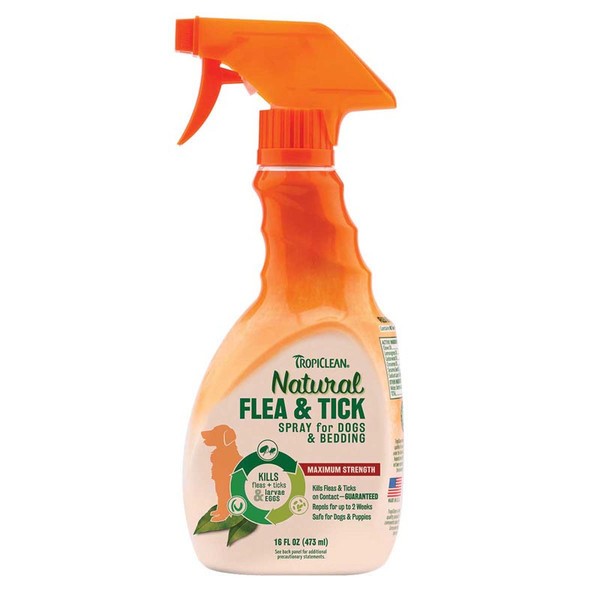 Tropiclean Flea and Tick Spray For Dogs and Bedding 16 oz