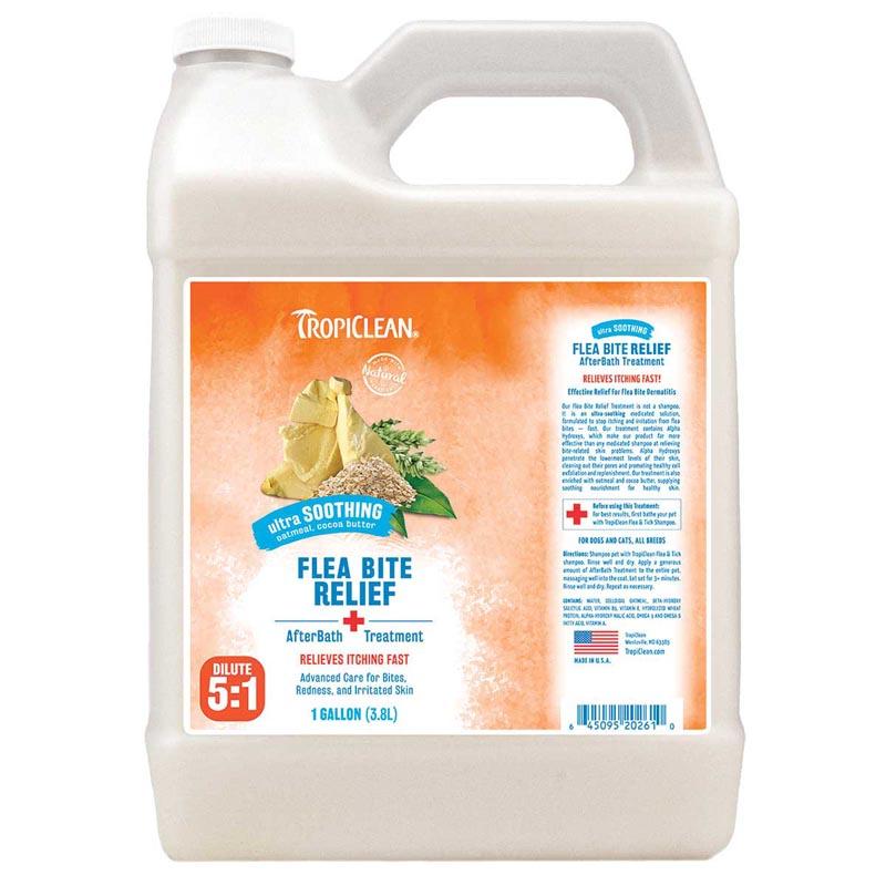 Tropiclean Natural Flea and Tick Bite Relief After Bath Treatment Gallon
