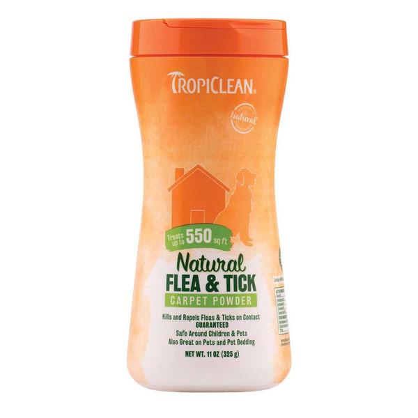 Tropiclean Flea and Tick Carpet Powder for Pets 11 oz