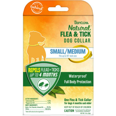 Tropiclean Flea and Tick Collar for Small and Medium Dogs
