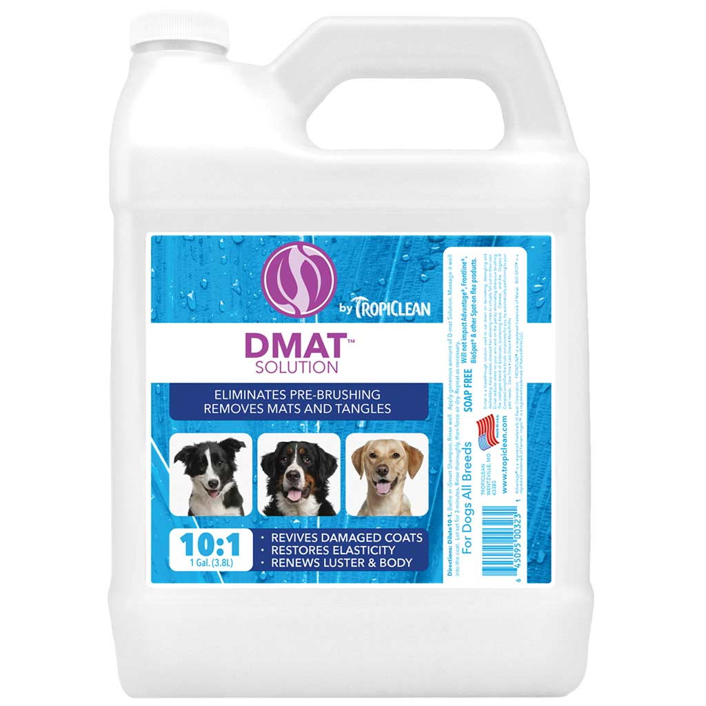 Tropiclean D-Mat Brush Out Solution for Dogs - Gallon 10:1