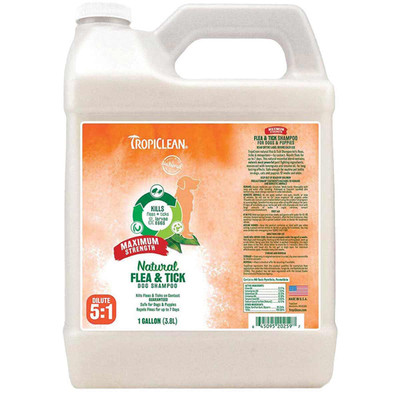 2.5 Gallon TropiClean Natural Flea & Tick Maximum Strength Shampoo