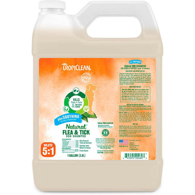 TropiClean Natural Flea and Tick Soothing Shampoo 2.5 Gallon