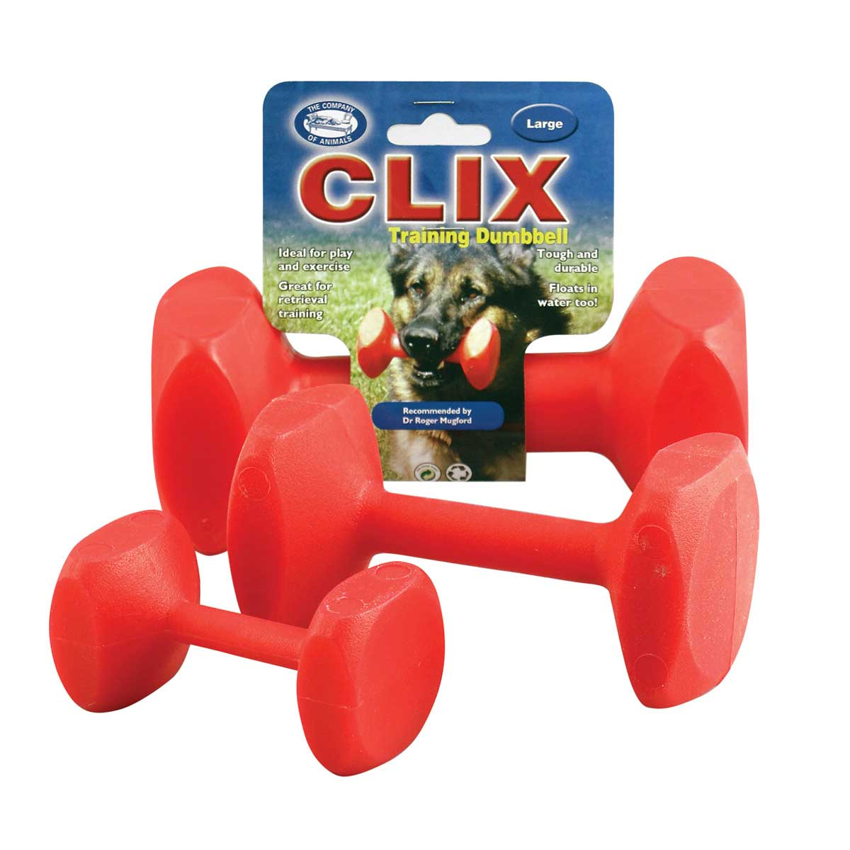 Clix Dumbbell for Dog Training - Large