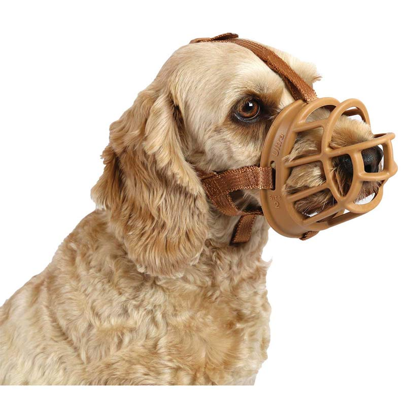 Baskerville Ultra Muzzle for Dogs - Size 1 Border Terrier Tan