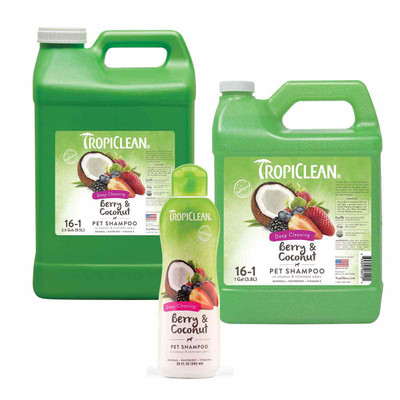 Tropiclean Deep Cleaning Berry & Coconut Pet Shampoo
