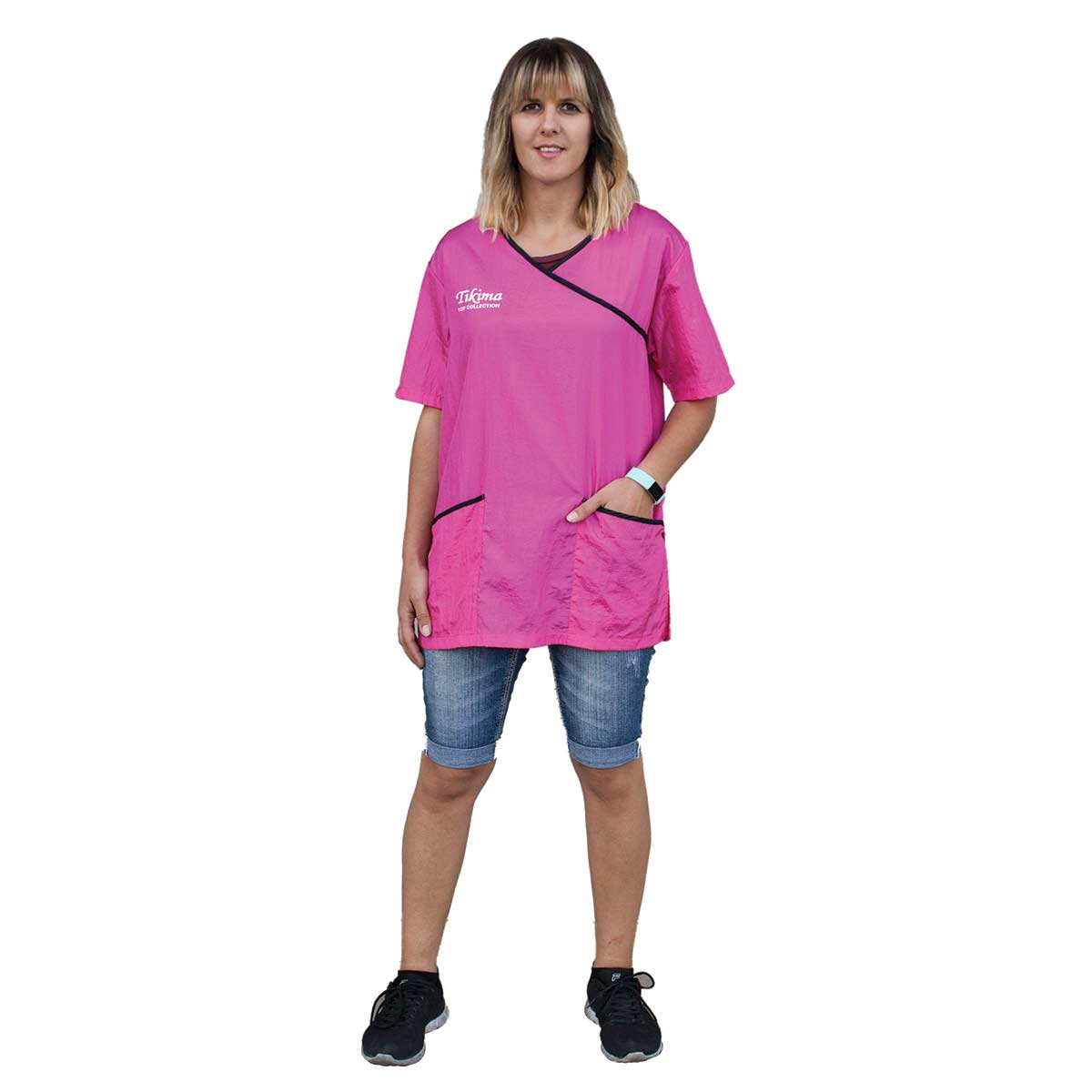 Large Pink Tikima Fiori Grooming Shirt