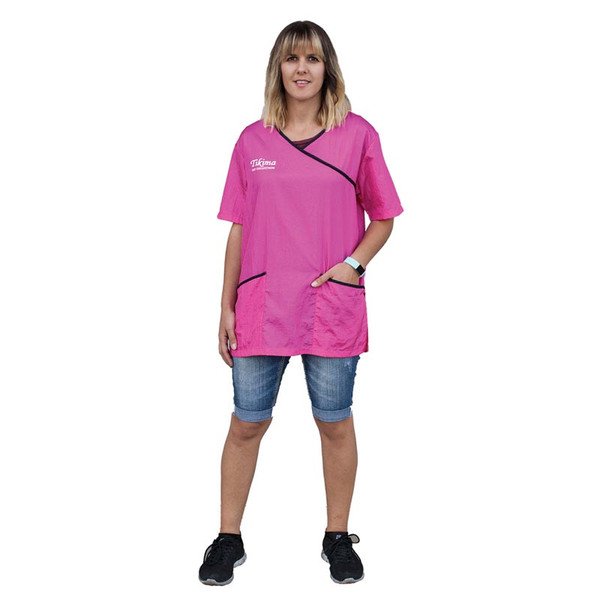 Pink Tikima Fiori Grooming Shirt - Size Medium