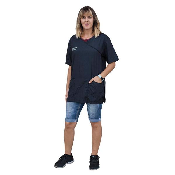 4X Large Tikima Fiori Shirt in Black