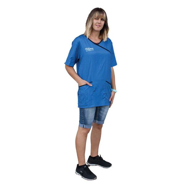 Blue X Large Tikima Fiori Shirt for Grooming