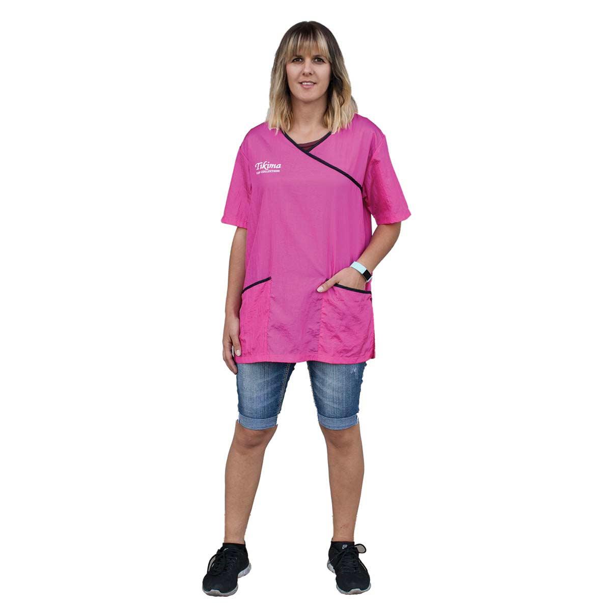 X Large Pink Tikima Fiori Grooming Shirt