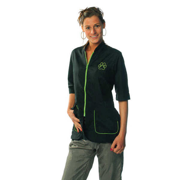 Lime 2X-Large Tikima Carini Grooming Shirt with Contrast Zipper and Pocket Accents