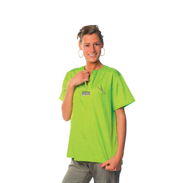 Lime Small-Xlarge Tikima Figari Shirt Crew Neck with Short Zipper
