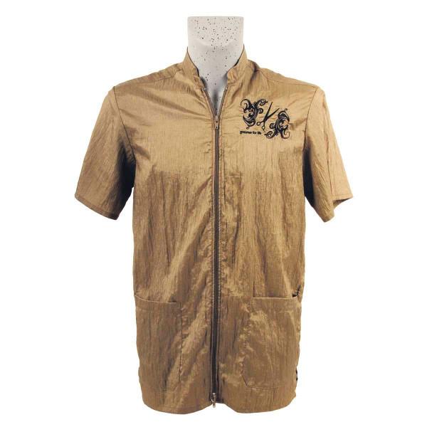 Khaki Tikima Vico Unisex Shirt with 2 Way Front Zipper 3X-Large