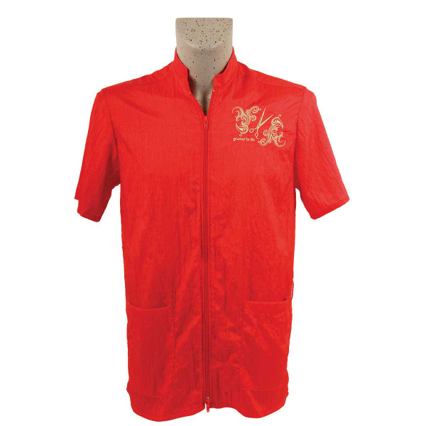 Red Tikima Vico Unisex Shirt with 2 Way Front Zipper 3X-Large