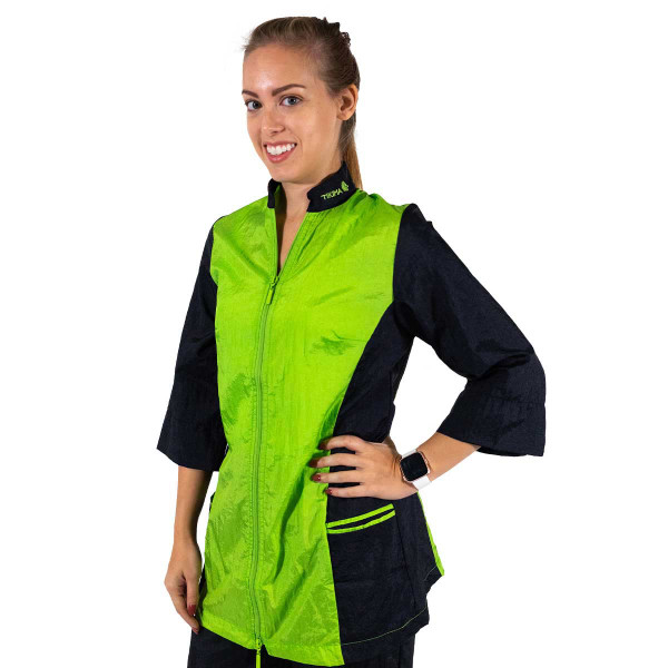 Lime XLarge-2X-Large Tikima Caprezo Slimming Jacket with 2-Way Front Zipper