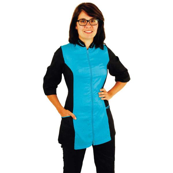 Turquoise XLarge-2X-Large Tikima Caprezo Slimming Jacket with 2-Way Front Zipper