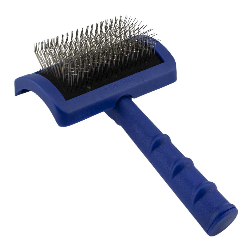 Tuffer Than Tangles Medium Firm Pin Slicker Brush for Cats and Dogs