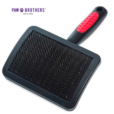 Paw Brothers Universal Type Large Slicker Brush with Hard Pins 4.5 inches