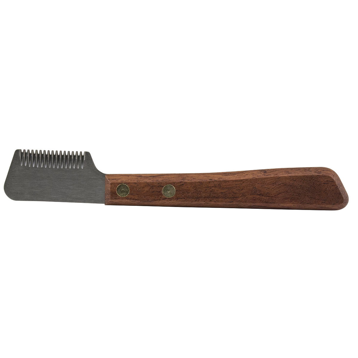 18 Tooth Lefty Coarse Stripper with Rose Wood Handle