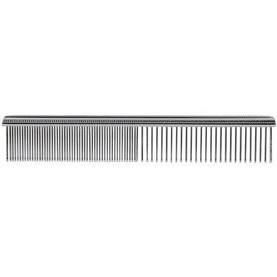 Paw Brothers 5 inch Greyhound Style Chrome Comb for Fine and Coarse Hair