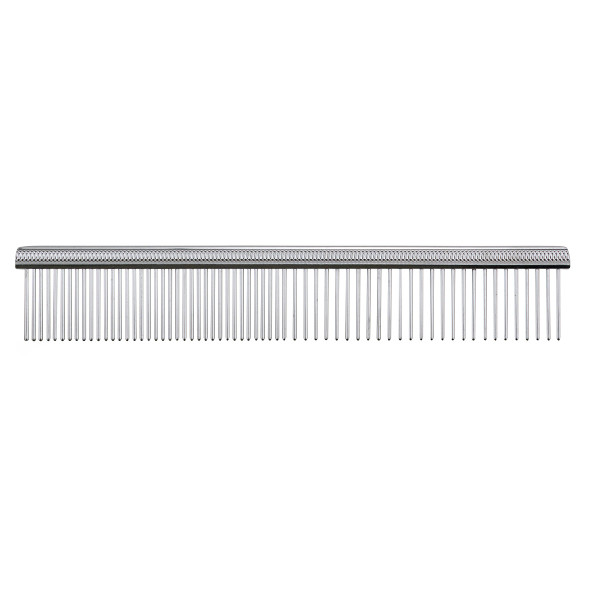 Paw Brothers 7.5 inch Greyhound Style Chrome Comb for Fine and Coarse Hair
