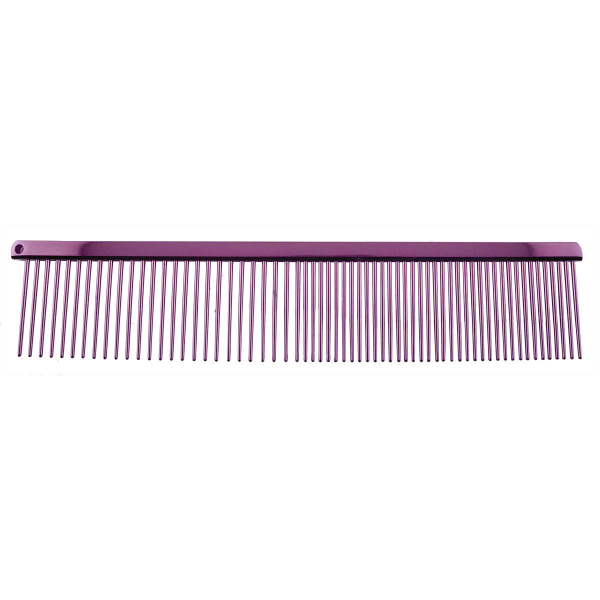 Paw Brothers 7.5 inch Coarse and Fine Greyhound Style Carbon Steel Comb Purple
