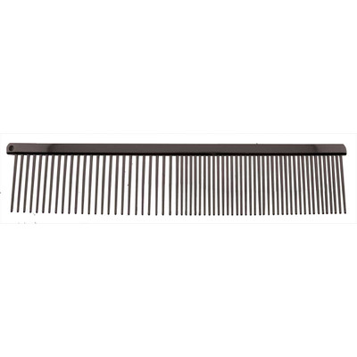 Paw Brothers 7.5 inch Coarse and Fine Greyhound Style Carbon Steel Comb Black Pearl