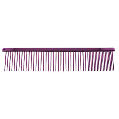 Paw Brothers Purple 7.5 inch Fine and Coarse Greyhound Style Carbon Steel Comb