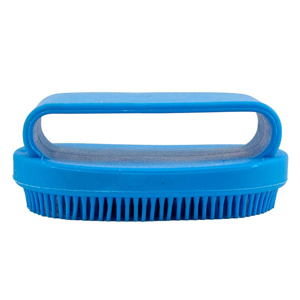 Additional view of Small Blue Rubber Curry Brush
